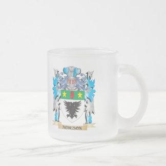 Escudo de armas de Acheson Taza Cristal Mate