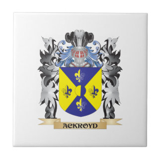 Escudo de armas de Ackroyd - escudo de la familia Azulejo Cuadrado Pequeño