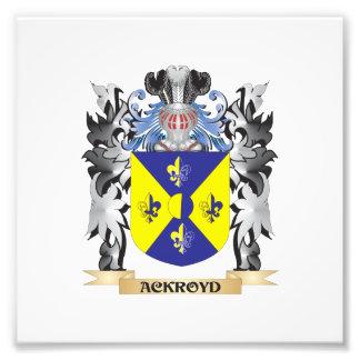 Escudo de armas de Ackroyd - escudo de la familia Fotografías