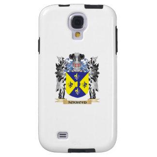 Escudo de armas de Ackroyd - escudo de la familia Funda Para Galaxy S4