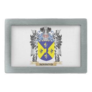 Escudo de armas de Ackroyd - escudo de la familia Hebilla Cinturon Rectangular
