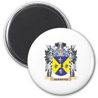 Escudo de armas de Ackroyd - escudo de la familia Imán Redondo 5 Cm