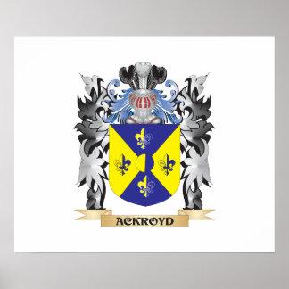 Escudo de armas de Ackroyd - escudo de la familia Póster