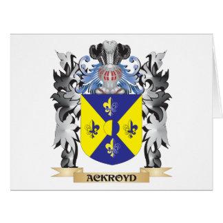 Escudo de armas de Ackroyd - escudo de la familia Tarjeta De Felicitación Grande