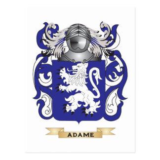 Escudo de armas de Adame (escudo de la familia) Postal