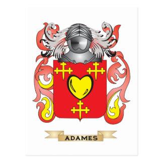 Escudo de armas de Adames (escudo de la familia) Postal