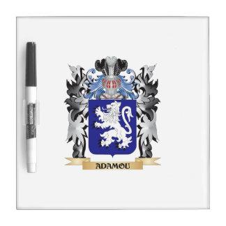 Escudo de armas de Adamou - escudo de la familia Tablero Blanco