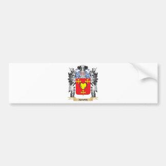 Escudo de armas de Adams - escudo de la familia Pegatina Para Auto