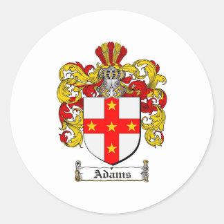 Escudo de armas de Adams/escudo de la familia de Pegatina Redonda