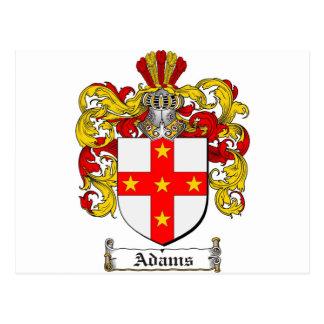Escudo de armas de Adams/escudo de la familia de Postales