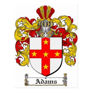 Escudo de armas de Adams/escudo de la familia de Tarjetas Postales