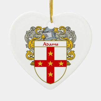 Escudo de armas de Adams/escudo de la familia Adorno De Cerámica En Forma De Corazón