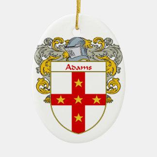 Escudo de armas de Adams/escudo de la familia Adorno Ovalado De Cerámica