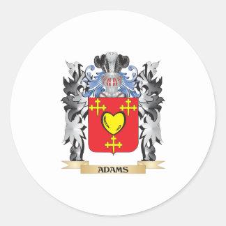 Escudo de armas de Adams - escudo de la familia Pegatina Redonda