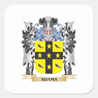 Escudo de armas de Adams - escudo de la familia Pegatina Cuadrada