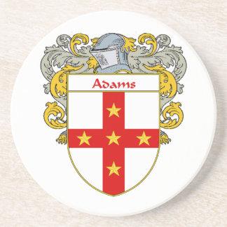 Escudo de armas de Adams/escudo de la familia Posavasos Para Bebidas