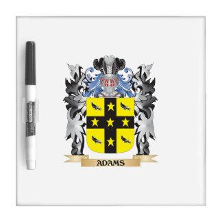 Escudo de armas de Adams - escudo de la familia Tableros Blancos