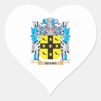 Escudo de armas de Adams Pegatina En Forma De Corazón