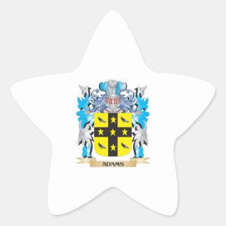 Escudo de armas de Adams Pegatina En Forma De Estrella