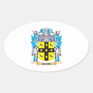 Escudo de armas de Adams Pegatina Ovalada