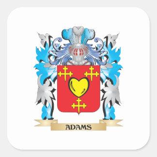 Escudo de armas de Adams Pegatina Cuadrada