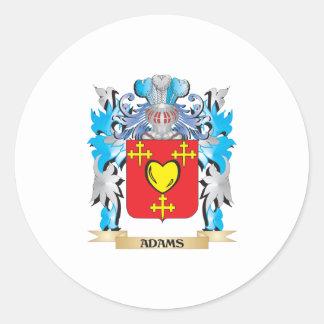 Escudo de armas de Adams Pegatina Redonda