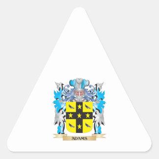 Escudo de armas de Adams Pegatina Triangular