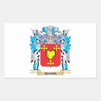 Escudo de armas de Adams Pegatina Rectangular