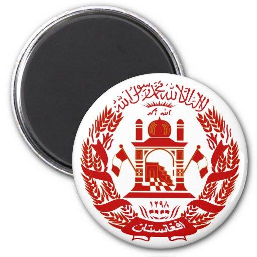 Escudo de armas de Afganistán Imán Para Frigorífico