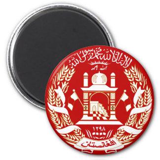 Escudo de armas de Afganistán Imán Redondo 5 Cm
