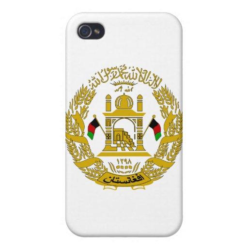 Escudo de armas de Afganistán iPhone 4 Fundas