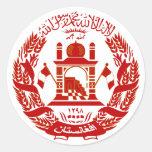 Escudo de armas de Afganistán Pegatina Redonda
