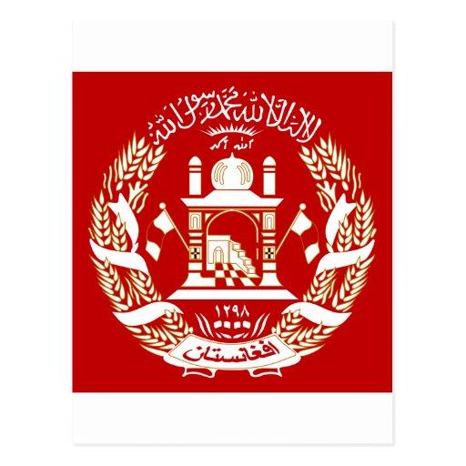 Escudo de armas de Afganistán Tarjetas Postales