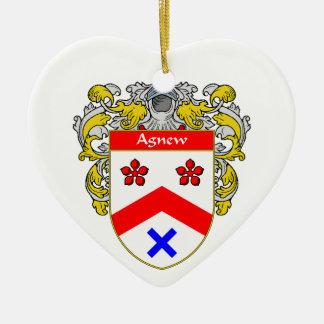 Escudo de armas de Agnew/escudo de la familia Adorno De Cerámica En Forma De Corazón