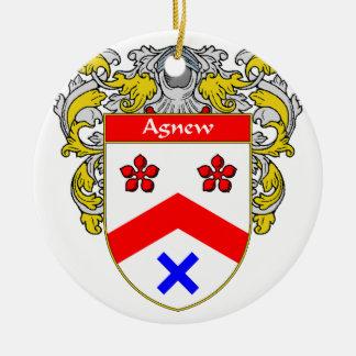 Escudo de armas de Agnew/escudo de la familia Adorno Redondo De Cerámica