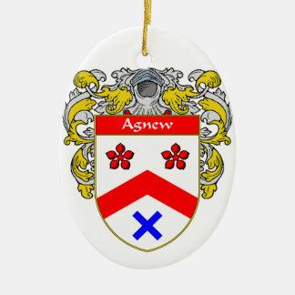 Escudo de armas de Agnew/escudo de la familia Adorno Ovalado De Cerámica