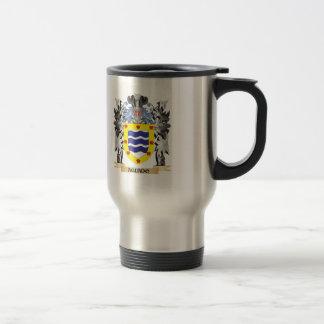 Escudo de armas de Aguado - escudo de la familia Taza De Viaje De Acero Inoxidable