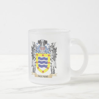 Escudo de armas de Aguado - escudo de la familia Taza Cristal Mate