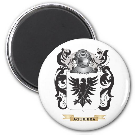 Escudo de armas de Aguilera (escudo de la familia) Imanes De Nevera