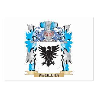 Escudo de armas de Aguilera Plantilla De Tarjeta De Negocio