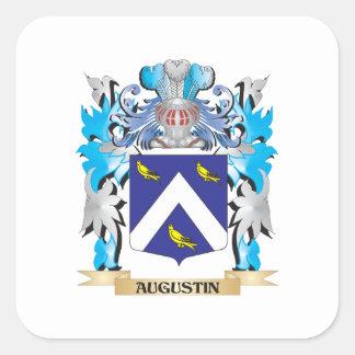 Escudo de armas de Agustín Calcomanía Cuadrada