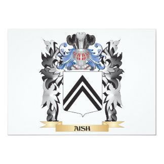 """Escudo de armas de Aish - escudo de la familia Invitación 5"""" X 7"""""""