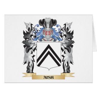 Escudo de armas de Aish - escudo de la familia Tarjeta De Felicitación Grande