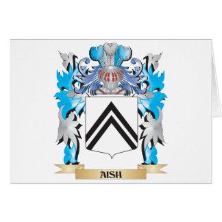 Escudo de armas de Aish Tarjeta De Felicitación