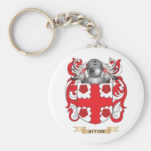 Escudo de armas de Aiton (escudo de la familia) Llavero Personalizado