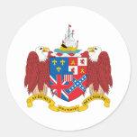 Escudo de armas de Alabama Pegatina Redonda