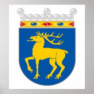 Escudo de armas de Aland Poster
