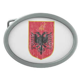 Escudo de armas de Albania Hebilla De Cinturon Oval