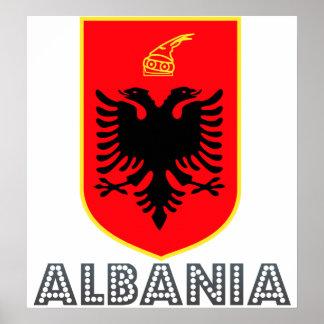 Escudo de armas de Albania Impresiones