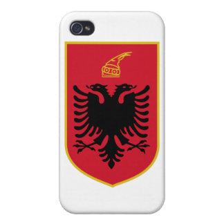 Escudo de armas de Albania iPhone 4 Carcasa
